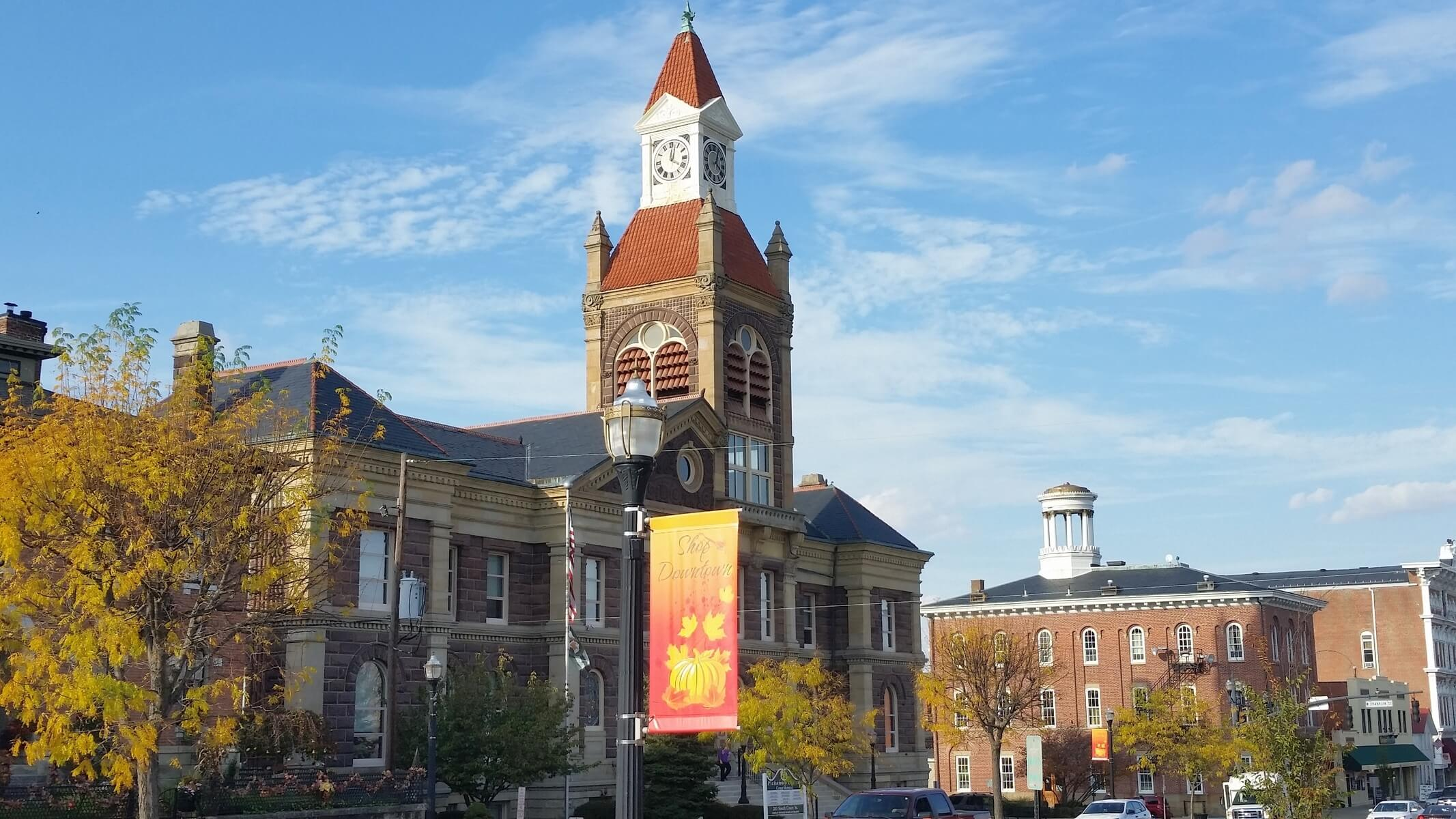 Historical downtown Circleville Ohio